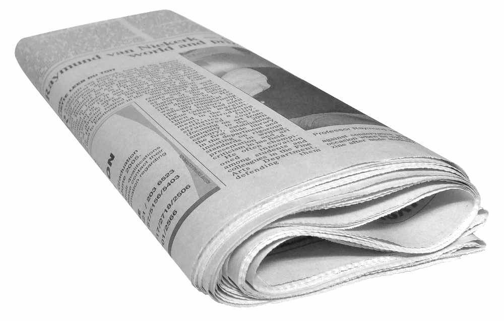 Newspaper reports on lack of source for news