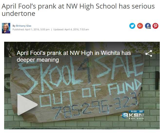 Northwest High prank, some underlying facts
