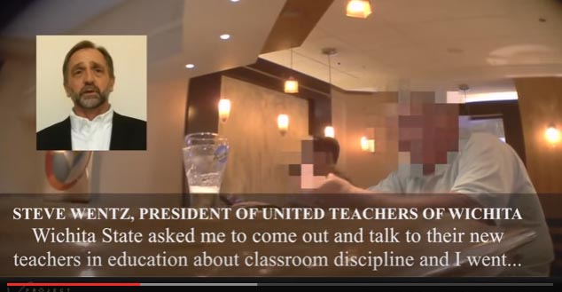Wichita teachers union president on video
