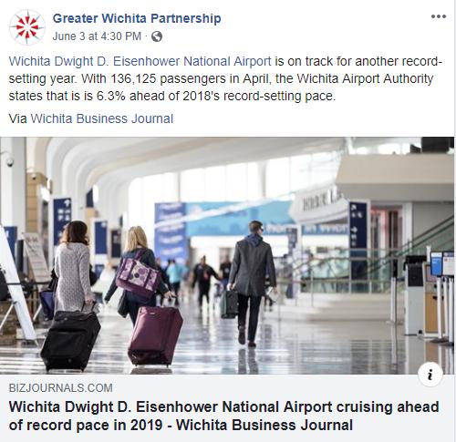 Wichita airport traffic